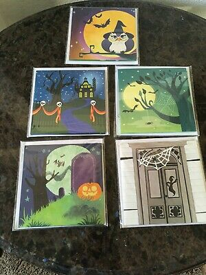 Halloween Greeting Cards (Lot of 5 Cute Halloween 3D Pop Up  Greeting Cards by Treasures w)