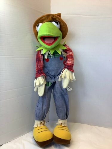 Muppets Kermit the Frog Scarecrow Plush Poseable Stuffed Animal Toy