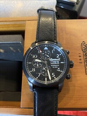 BRAND NEW INGERSOLL AUTOMATIC CHRONOGRAPH B Aviation Dial- MSRP $1490 I01402