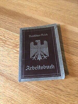 Original Third Reich Workbook Arbeitsbuch very good Condition