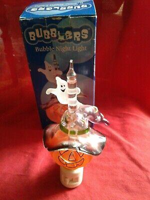 Halloween 2003 Bubblers Night Light Roman Lights. Pumpkin Ghost.Swivel Plug. BOX