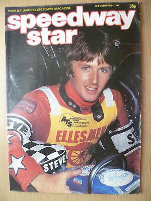 SPEEDWAY STAR MAGAZINE- 24 October 1981 VOL. 30 NO.32
