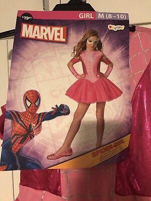 Girls Marvel Spider Girl Halloween Dress Up Costume (Med 8-10)