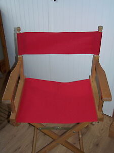 2 RED DIRECTORS CHAIR REPLACEMENT COVERS WATERRESISTANT CORDURA 3SIZES 5 COLOURS