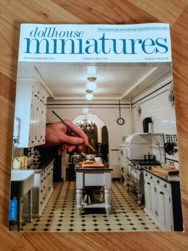 Dollhouse Miniatures Magazine Issue 67 Jan/Feb 2019 **Free Shipping**
