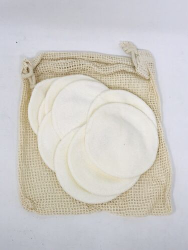 20 Packs Organic -friendly Natural Bamboo Cotton Rounds  wit