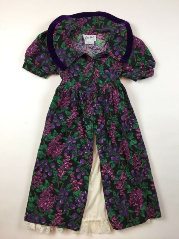 Vintage Eve Too Byer California Girls Dress 6 Party Purple Berries Fruit D3-32