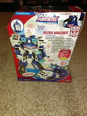 Transformers Animated Ultra Magnus Leader Class. NEVER OPENED, SEALED IN BOX.