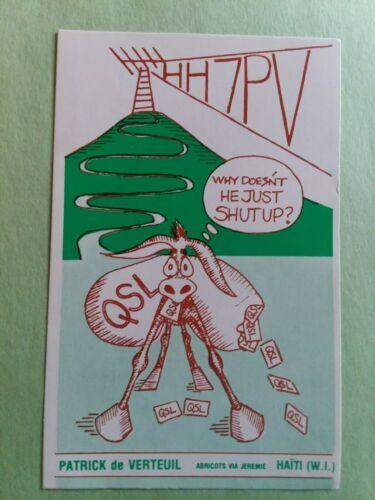 HH7PV- HAITI (WEST INDIES)- PATRICK DE VERTEUIL- 1988- QSL