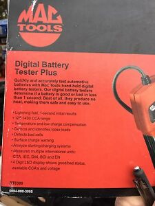 MAC Tools Digital Battery Tester
