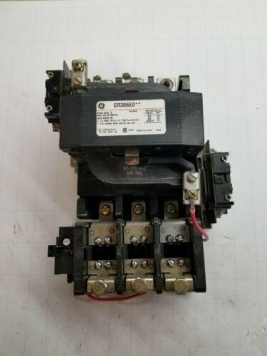 GE NEMA SIZE 3 MOTOR STARTER 120 VAC COIL 600 VAC 90 AMP 50 HP CR306E0**