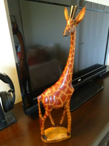 "18 1/2"" Wood Giraffe"