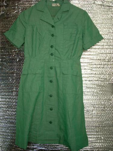Vintage Intermediate/Junior Girl Scout Uniform Dress 1962-1968 abt size 8-10