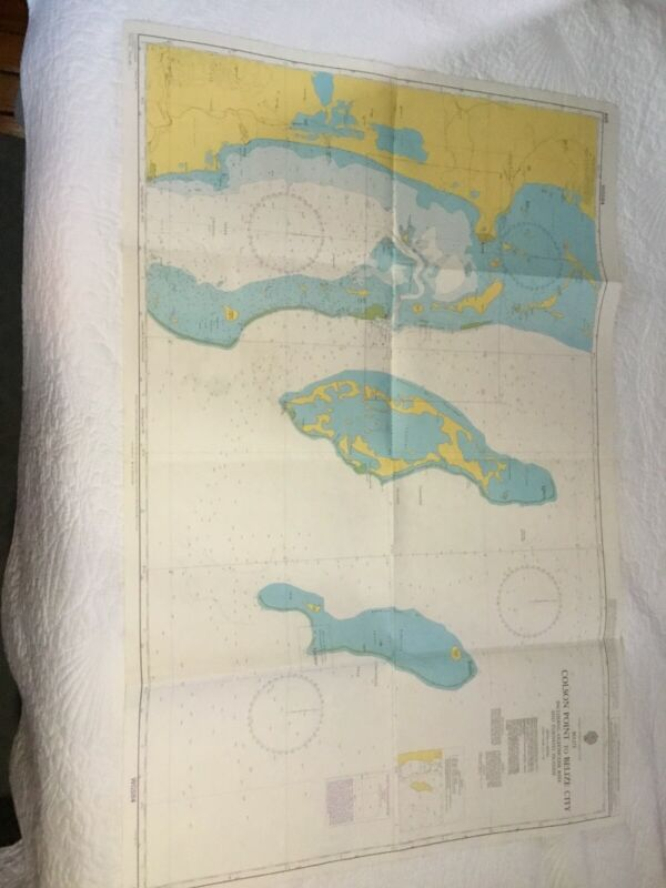Vintage Nautical chart #959 Colson Point To Belize City 2009