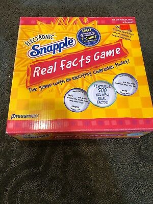 Electronic Snapple Real Facts Game Complete Bottle Works Tested FREE -
