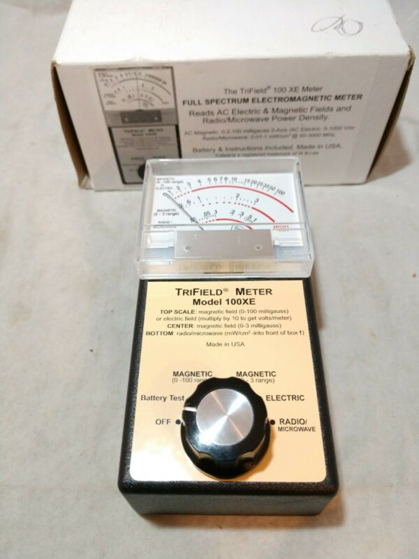 New in Box TriField EMF Meter Model 100XE , Magnetic-Electric-Radio/Microwave