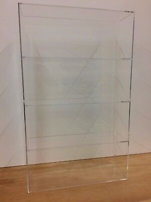 Ds-acrylic Lucite Countertop Display Case Showcase Box Cabinet 14 X 4 14 X 23h