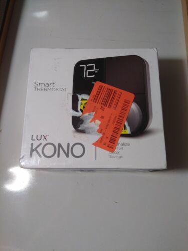 Lux Kono Smart Wi-Fi Thermostat Interchangeable Black Stainl