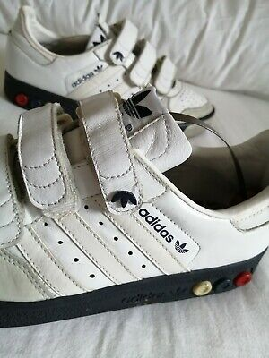 Vintage adidas trainers, size 7, white leather, velcro straps