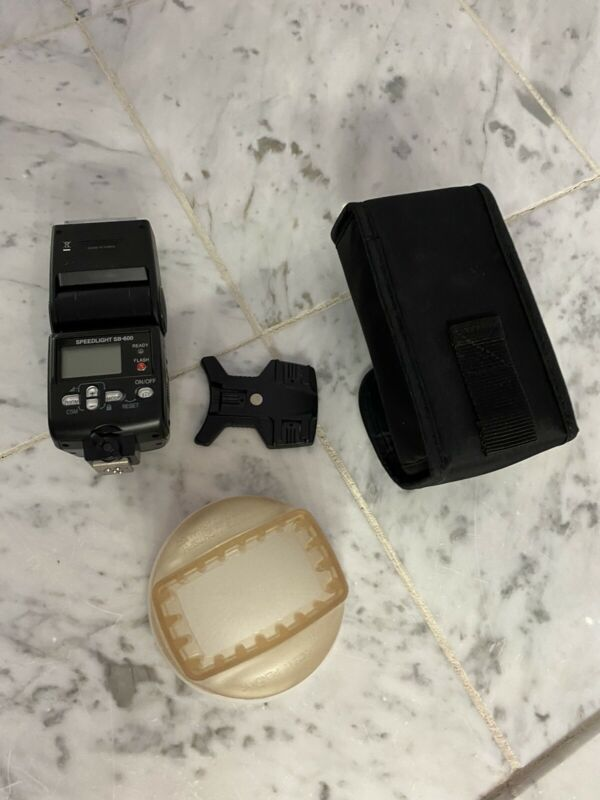Nikon SB-600 Speedlight Flash with AS19 Stand, Bag, and Gary Fong Light Diffuser