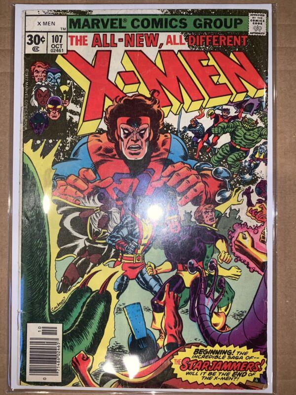 UNCANNY X-MEN#107 FN/VF 1978 MARVEL BRONZE AGE COMICS