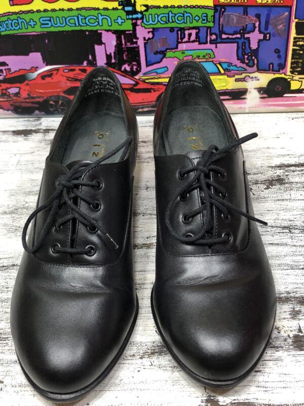 Capezio Gold Series CG07 Black Leather Tap Dance Heels Shoes (NO TAPS) Womens 10