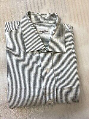 Salvatore Piccolo shirt Green & White Pristine RRP £350