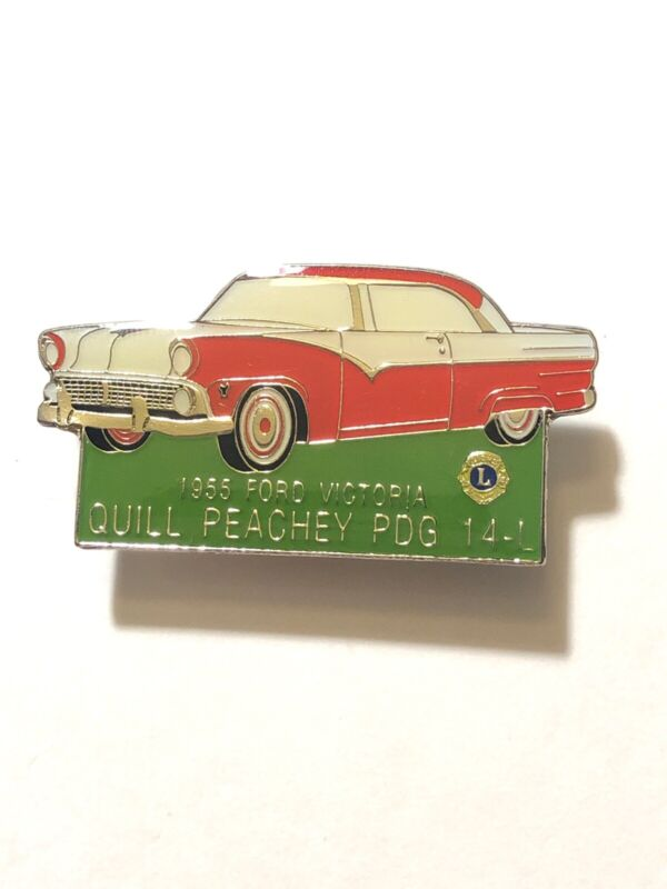 Quill Peaches PDG 14-L 1955 Ford Victoria Lions Club Pin