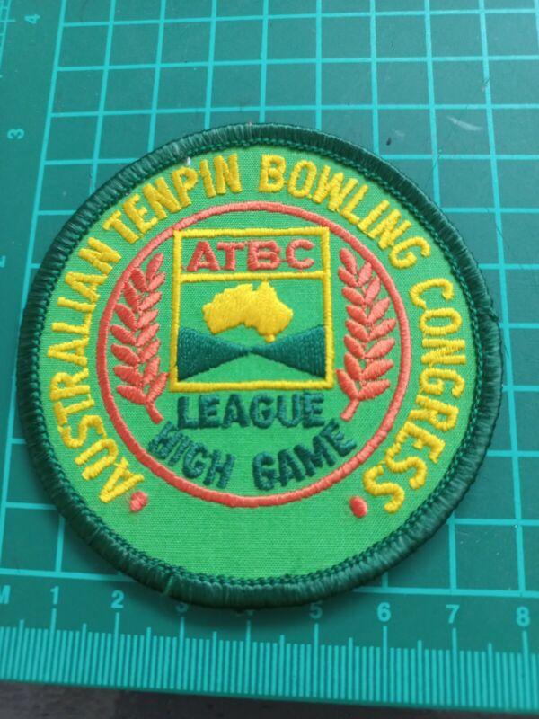 Australian Tenpin Bowling Congress League High Game Badge