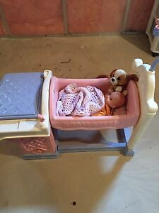 Doll cradle and baby bath
