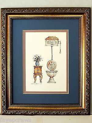 BATHROOM PICTURE  VICTORIAN BATHROOM  DOUBLE MATTED FRAMED 8X10