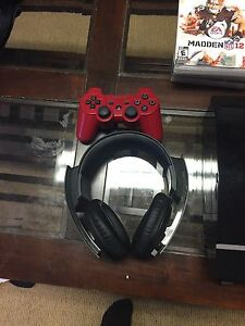 PS3 with 1 controller 9 games and Sony headset Kitchener / Waterloo Kitchener Area image 2