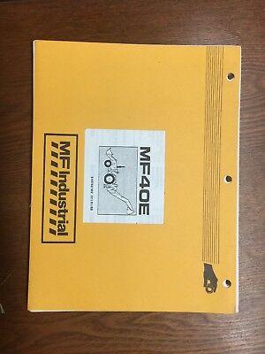 New Oem Original Massey Ferguson Mf40e Backhoe Loader Parts Manual Book 819760m1