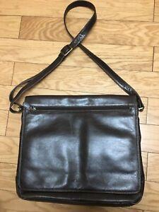 Leather Derek Alexander laptop bag tablet messenger bag