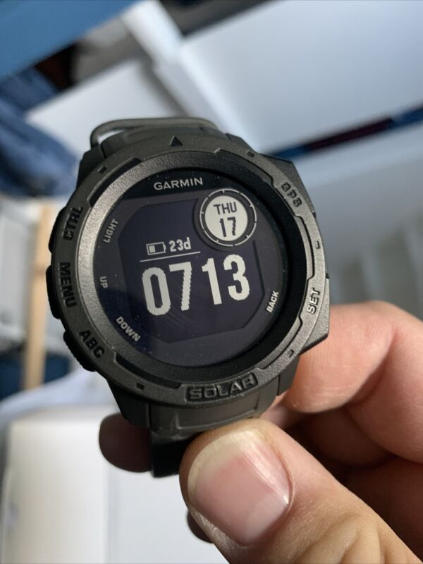 Garmin Instinct 45mm Solar Rugged GPS Smartwatch - (010-02293-10)