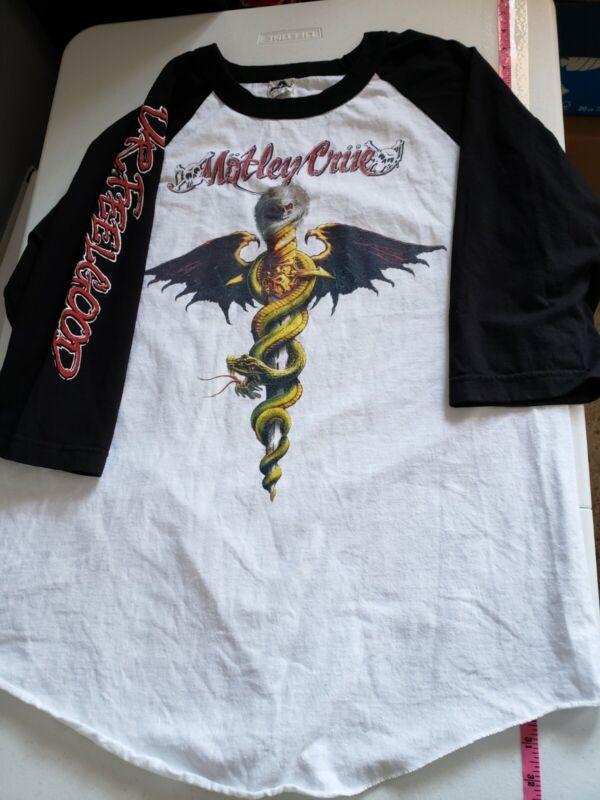 Vintage Motley crue Raglan t shirt dr feelgood