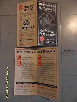 Flyers Club Trash (Roeselare) The Halloween Experience Part 2 1996
