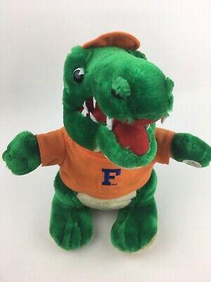 """Florida Gators Mascot• Vintage•Team Crossbars• 12""""Plush Plays UF Team Fight Song Florida Gators 12 Plush"""