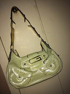 Green Leather Guess Purse