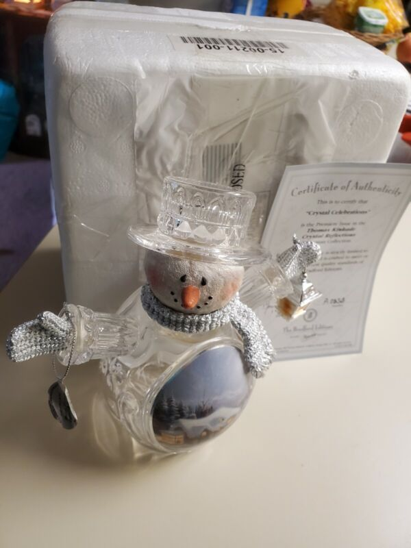 Thomas Kinkade  Crystal Celebration Premiere Issue Snowman (2005)