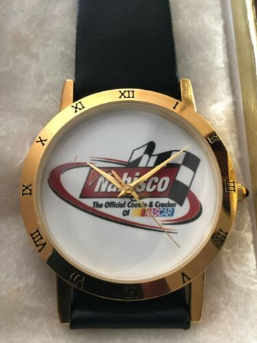 Rare Vintage Nabisco NASCAR Wristwatch Watch by Image Watches NEW & NEVER WORN!!