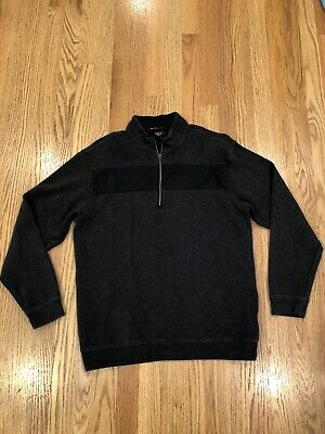Nike Tiger Woods Collection 1/4 Zip Pullover Size Medium M Cotton Golf Sweater