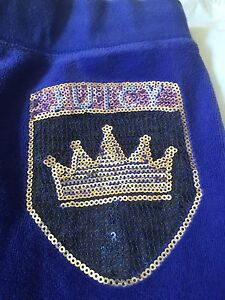 Juicy Couture Purple Velour Sequin Pants Size S