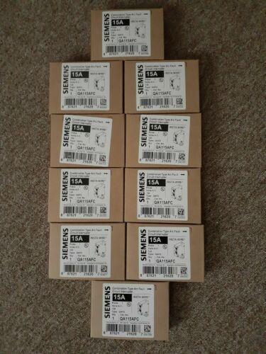 NEW 10 x SIEMENS 15 AMP CIRCUIT BREAKERS QA115AFC FREE SHIPPING