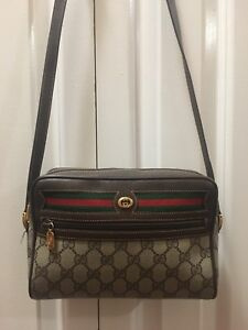 Gucci - Vintage Brown PVC Leather Shoulder Purse