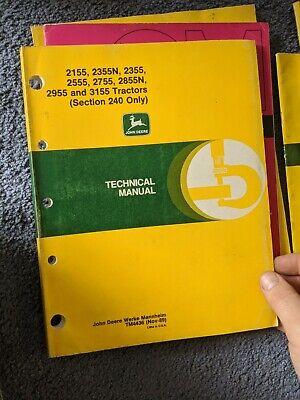 John Deere 21552355n2355255527552855n29553155 Technical Manual Tm4436