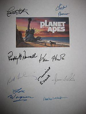 Planet of the Apes Signed Script Charlton Heston Linda Harrison Rod Serling rpnt