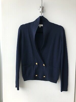 Les Coyotes de Paris knit cardigan sweater in navy blue xs 34