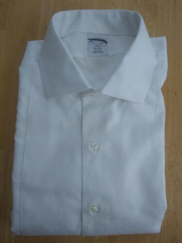 NWOT Brooks Brothers White Formal Pique Front 15.5-32 Slim MSRP $94