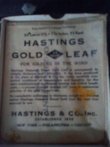 gold leaf 23karat Hastings 3 3/8 inch square sheets